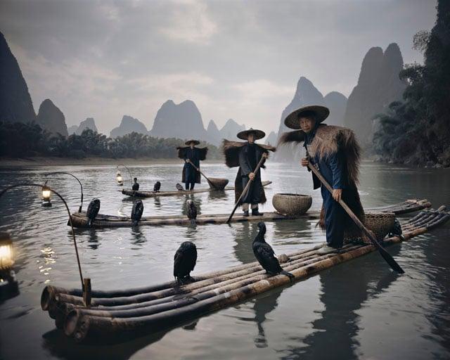 Yangshuo Cormorants China, 2005