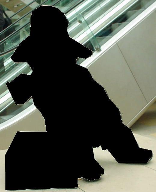 Statue of Paddington Bear at Paddington Station. Photograph from the Wikimedia Commons