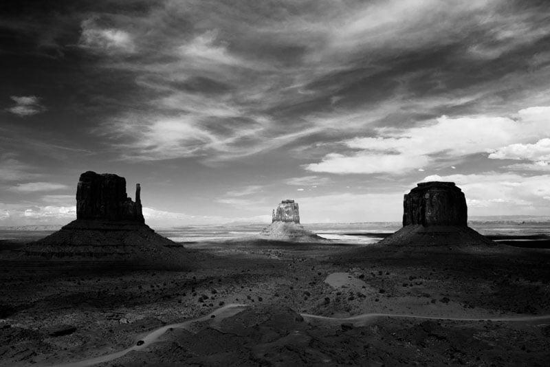The Mittens and Merrick Butte, Monument Valley Navajo Tribal Park, Arizona-Utah.