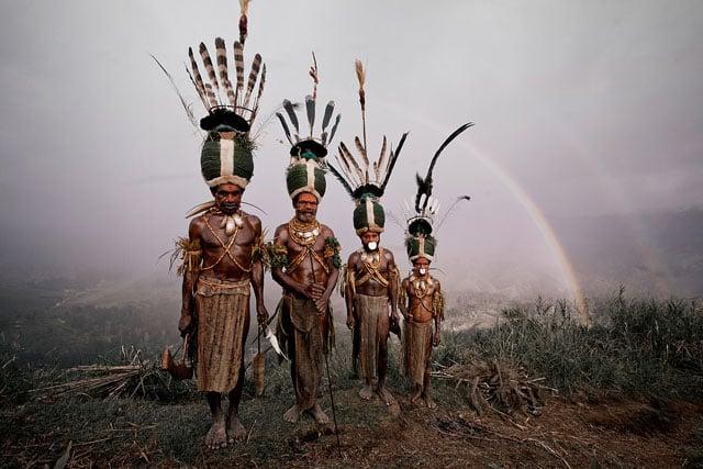 Bartholomeuw, Rubin, Gibson & Samson, Kalam Tribesmen Simbai, Nukunt Village, Bismark Range, Central Highlands Papua New Guinea, 2010
