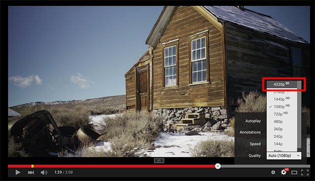 Hello Future: YouTube Now Officially Hosts 8K Videos