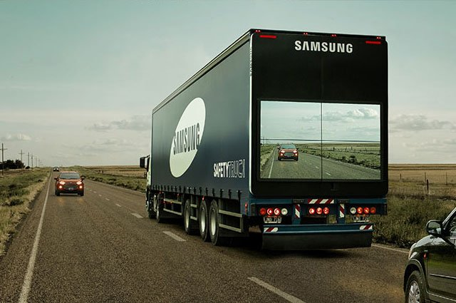 Samsung's 'Safety Truck' Features a Camera and Live View Display