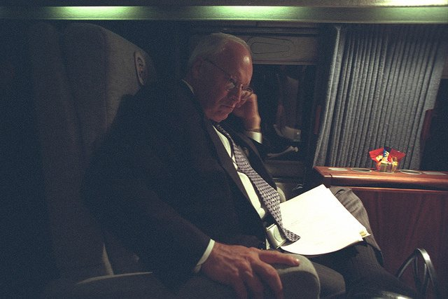 Vice President Cheney Aboard Marine Two