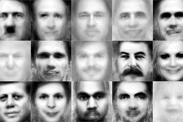 What Famous People Look Like When 50 Portraits of Them Are Averaged