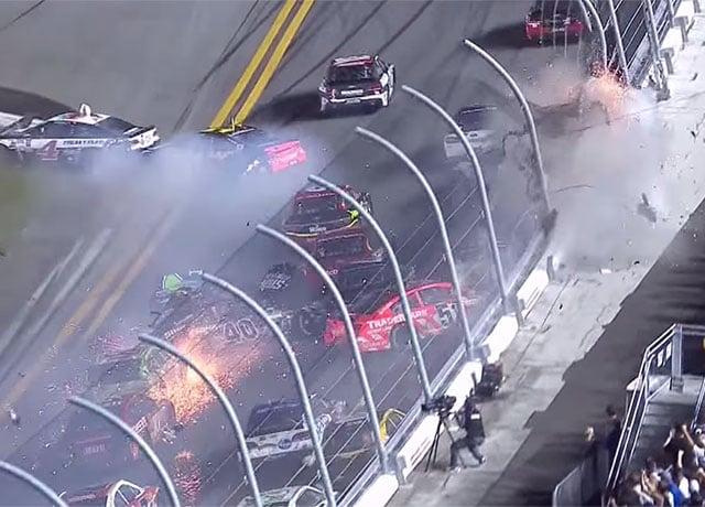 Yikes: Cameraman Has Close Call with NASCAR Crash at Daytona