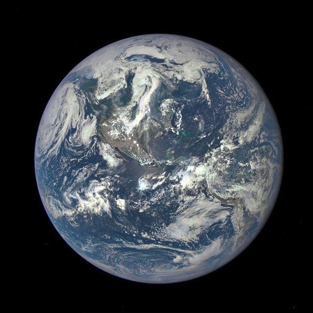 NASA Snaps First Photo of Earth with Camera That's 1 Million Miles Away