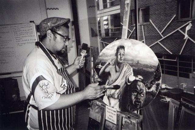 The Artist, Whitechapel, by Michael Crosswaite.