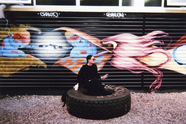 Tyre Break, Hackney, by Desmond Henry.