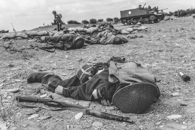 D-Day Photos Recreated Through a War Reenactment