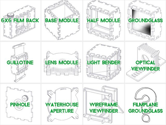 Some of the modules available on the Focal Camera website.