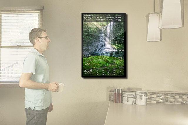 DAKboard is a Customizable Wall Display for Photos, Calendar