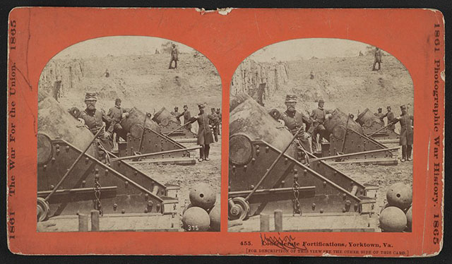 A Civil War stereograph found in the Library of Congress' collection.