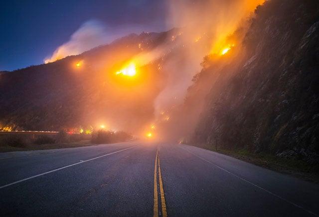 California wild fire