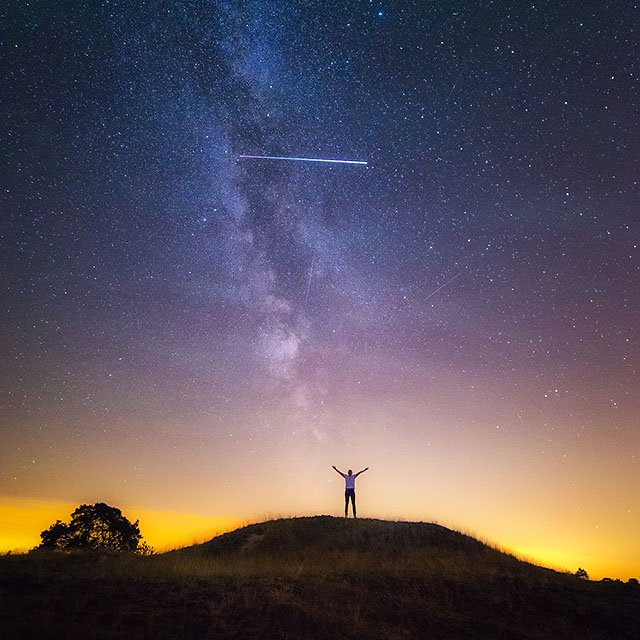 How I Accidentally Captured the ISS in a Self Portrait