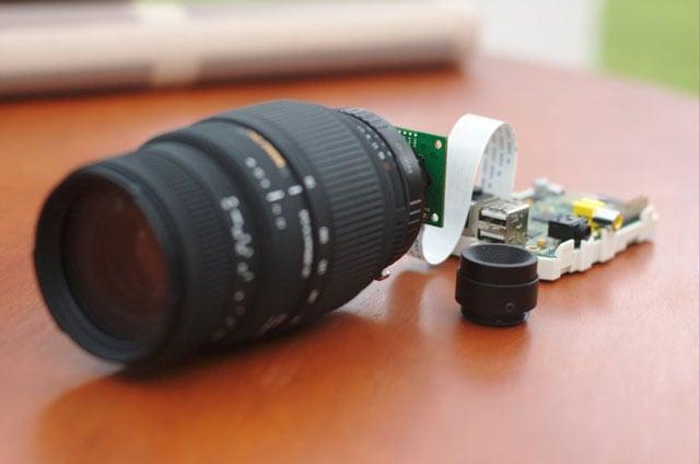 Using a Mobile Phone Camera Sensor with a Nikon F DSLR Lens