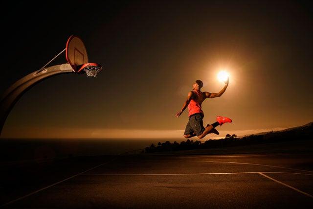 How I Shot NBA Star Anthony Davis Dunking the Sun