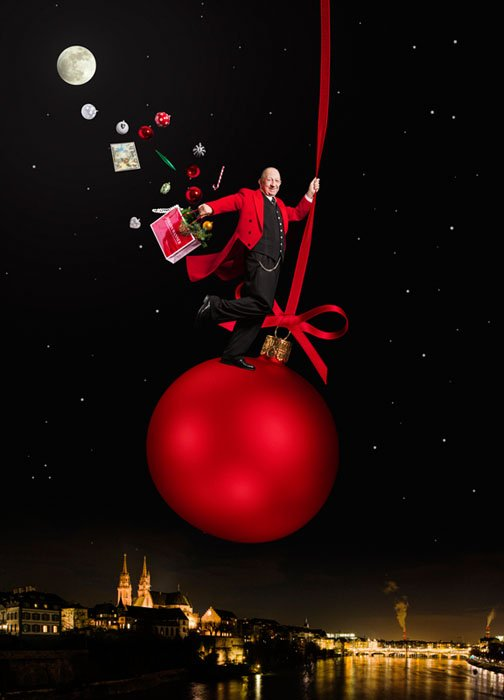 Johann Wanner, Christmas Decoratin Specialist in the style of Jean-Paul Goude