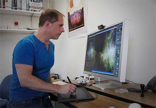 Caltech visualization scientist and astronomy Robert Hurt.