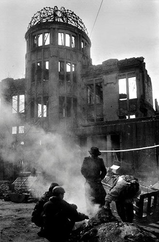 The only structure left standing in Hiroshima near the bomb's epicenter. Photo by Kikujiro Fukushima.