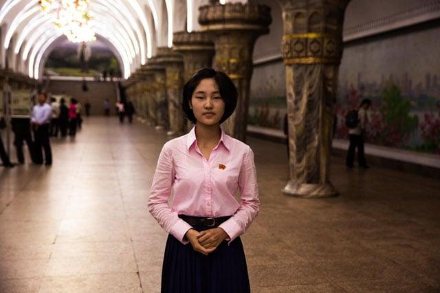 Subway station in Pyongyang.