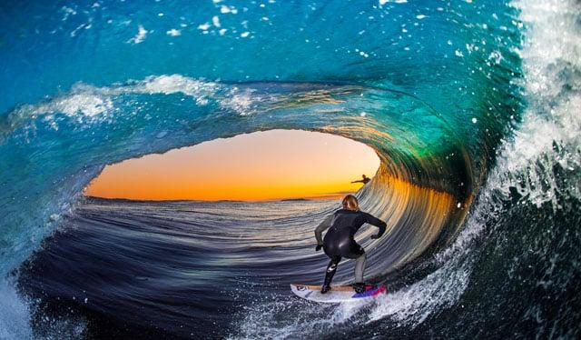 Shooting Flash Photos of Surfers Inside Barrel Waves