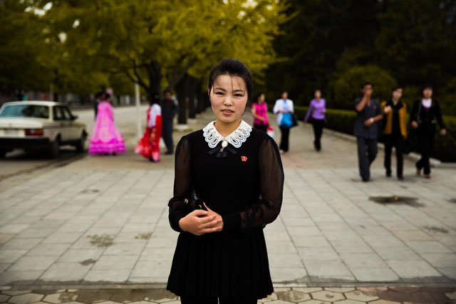 On the streets of Wonsan City