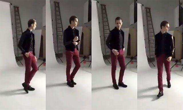 Watch This Male Model Strike 25 Poses in 30 Seconds