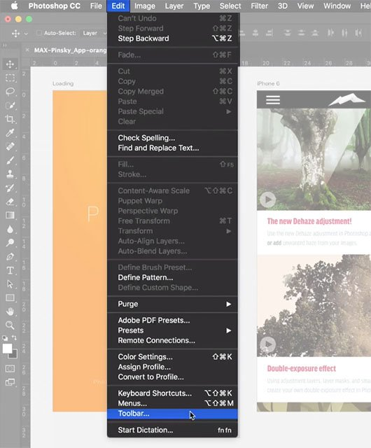 A Sneak Peek at the Toolbar Editing Feature Coming to Photoshop