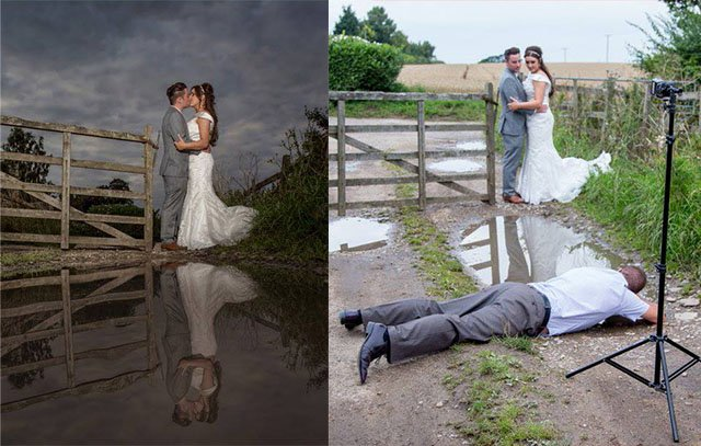 Wedding Scenes Photography: How To Shoot A Wedding Photo With Reflections