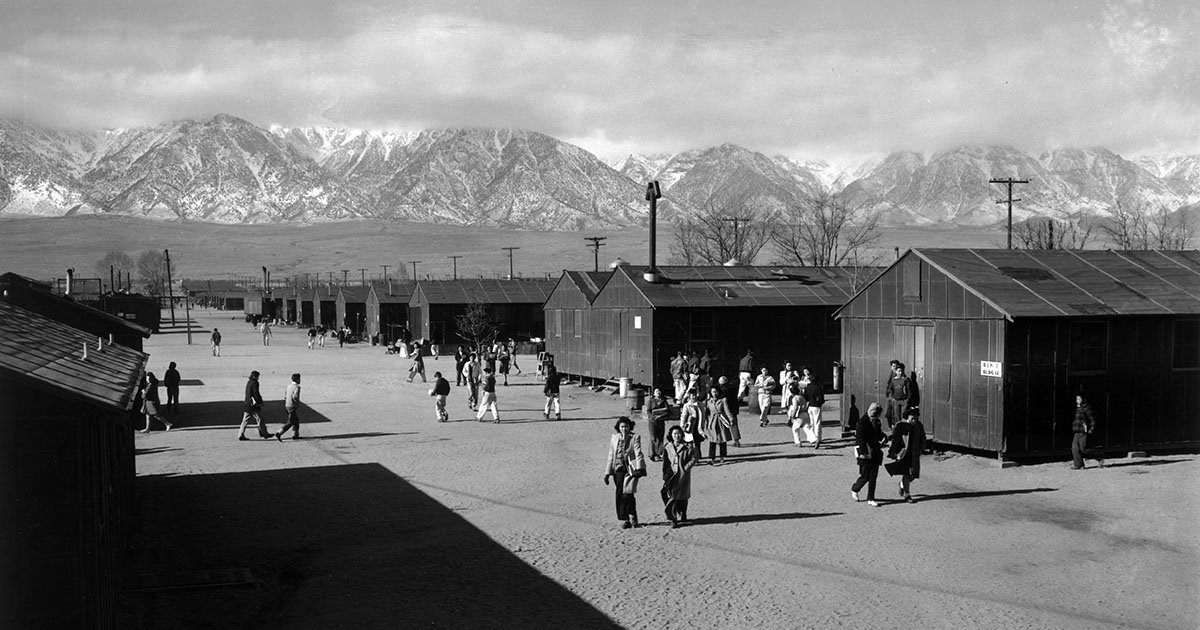 Ansel Adams Pictures Of An American Relocation Camp During Wwii