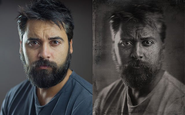 How to Make a Portrait Look Like Wet Plate Collodion Using Photoshop