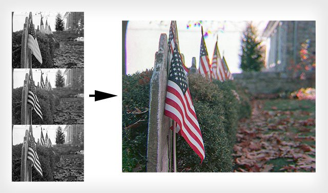How to Make Color Photos Using Only B&W Shots