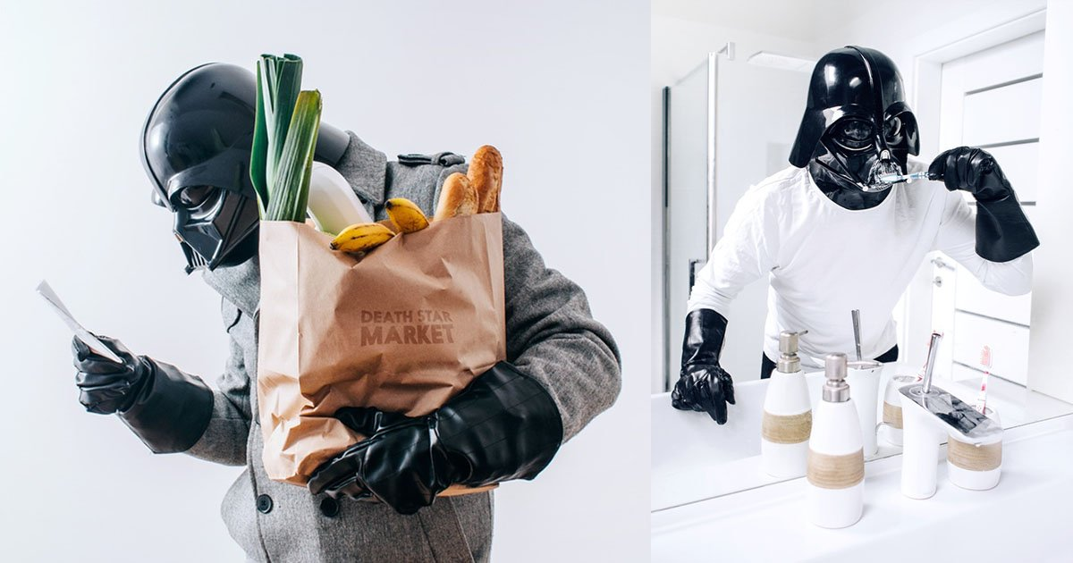Photos of Darth Vader's Rather Ordinary Daily Life