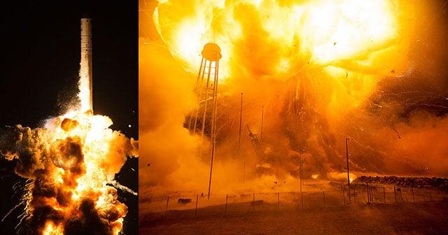 NASA Publishes Haunting Photographs of the Antares Rocket ...