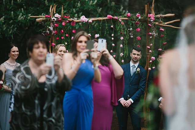 I've Had Enough with Wedding Guests Taking Pictures with Phones