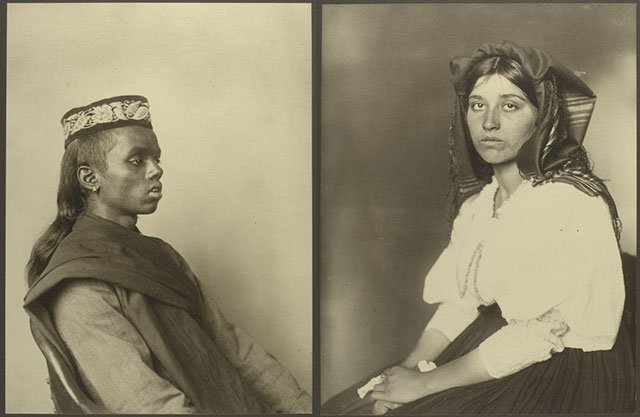Portraits of Immigrants Arriving in the United States in the Early 1900s