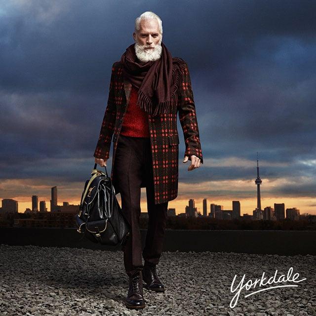 Stunner Santa Poses for a Male Fashion Photo Shoot