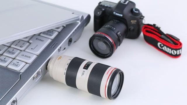 Canon giới thiệu mô hình 5Ds cùng 2 mẫu USB hình ống kính cho fan - 104689