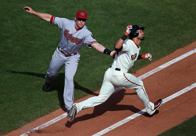 Image result for brad mangin baseball photography og tagging out
