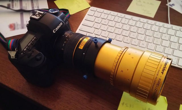 I Mounted an Anamorphic Projector Lens to My DSLR