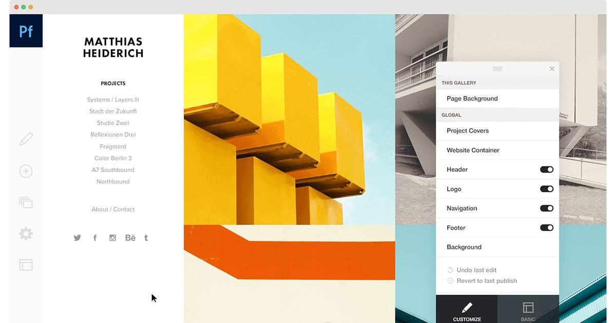 Adobe Portfolio Helps Photographers Build Portfolio Websites in Minutes