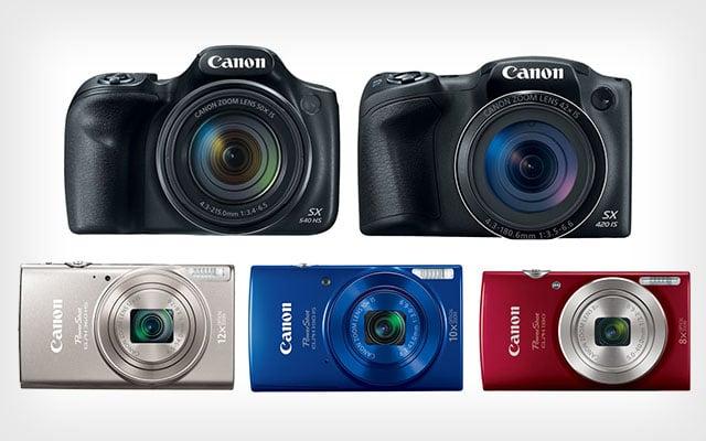 Canon Announces 5 New Powershot Cameras