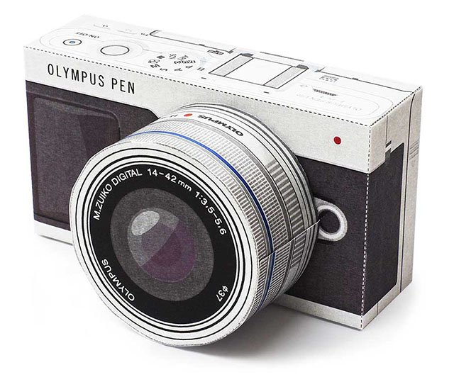 Build An Olympus Mirrorless Camera Out Of Paper