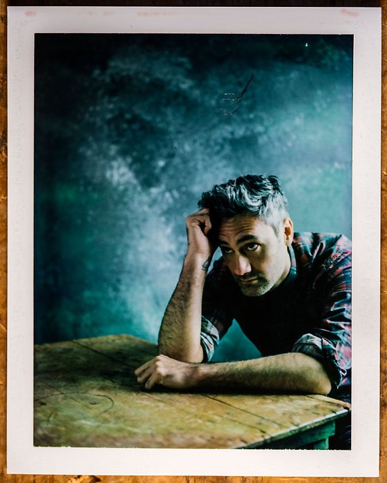"""Taika Waititi, writer and director from the film, """"Hunt for the Wilderpeople"""" poses for a portrait in the L.A. Times photo & video studio at the Sundance Film Festival, in Park City, Utah, on Jan. 23, 2016. (Jay L. Clendenin / Los Angeles Times)"""
