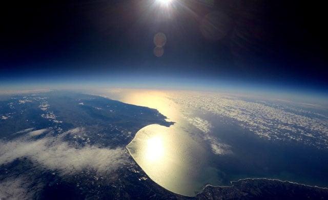 Monterey Bay from around 91,470 feet.