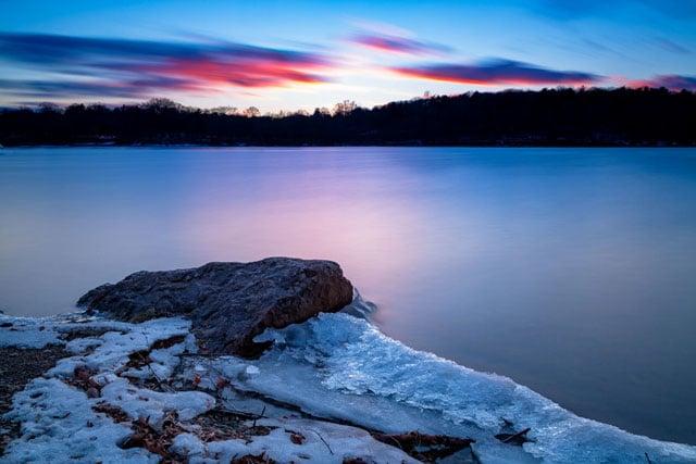JP+Pond+at+sunset