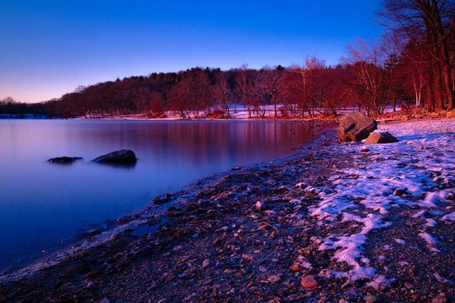 Jamaica+Pond+sunrise+shore