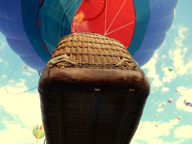 """Over Our Heads. """"Photo was taken at the International Balloon Fiesta in Albuquerque, New Mexico"""""""
