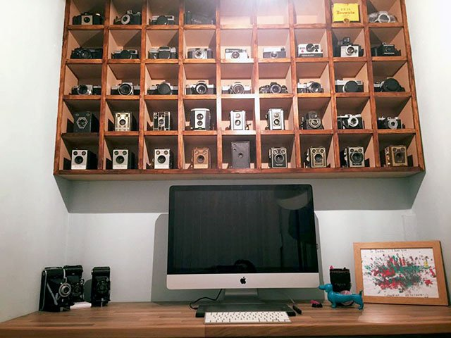 UK Based Photographer Marco Marques Owns An Impressive Collection Of Around  50 Vintage Cameras. After His Collection Outgrew Two Glass Display Cabinets,  ...