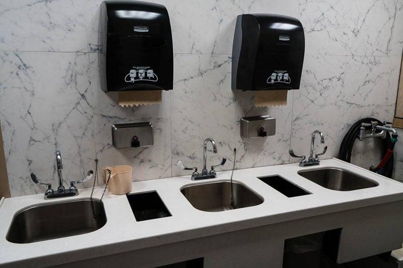 Restroom area.
